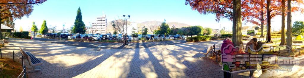 長良公園のコチラ側は舗装してあります