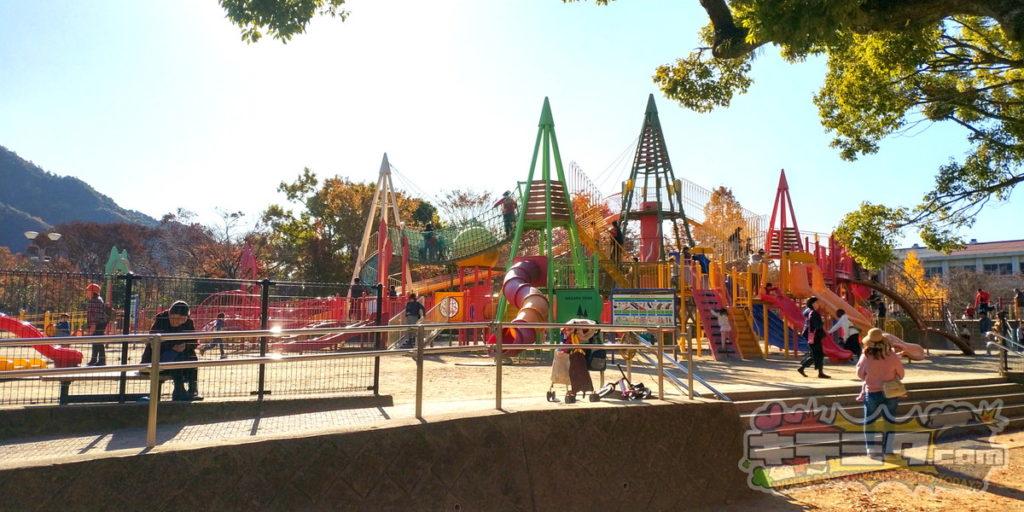 長良公園のアスレチックは良いですよ!