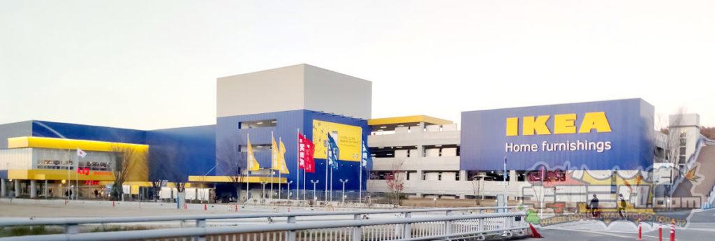 IKEA長久手は青と黄色のコントラスト