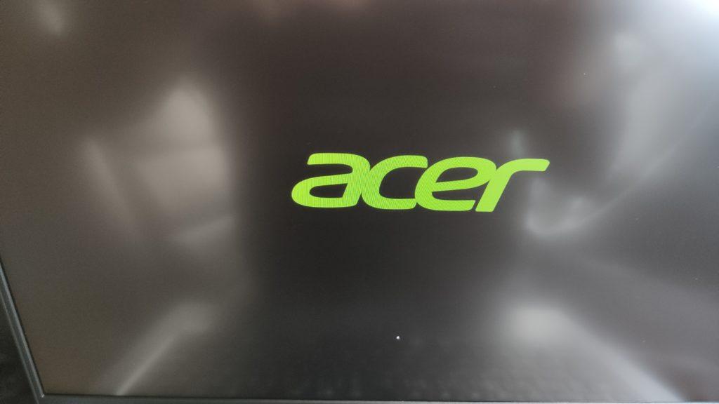 ACER swift3 SF314-57-F58U/Sのオープニング画面