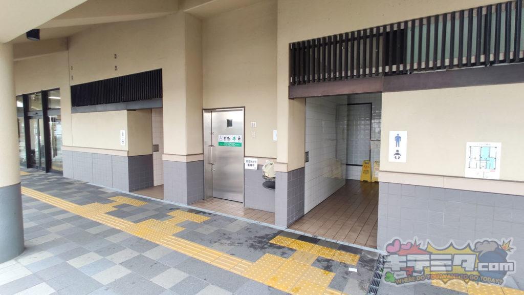 道の駅にしお岡ノ山のトイレ!