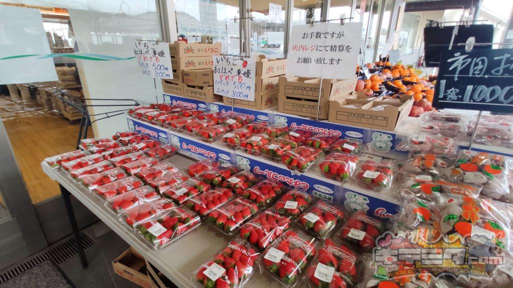 道の駅にしお岡ノ山の苺がおすすめ!
