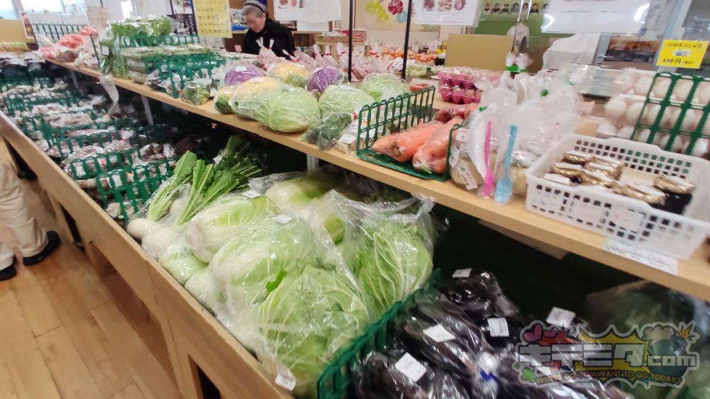道の駅にしお岡ノ山の白菜