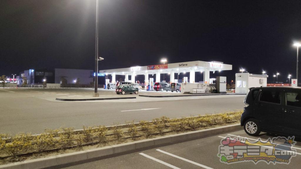 ここがコストコ岐阜羽島倉庫店のガスステーション